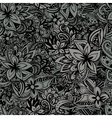 Uncolored hand drawn lined pattern vector image