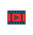 video button internet flat line style vector image
