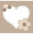 vintage frame with love heart beautiful can vector image