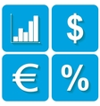 Web icons for business vector image