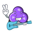 with guitar trefoil mascot cartoon style vector image
