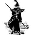 wizard with spellbook vector image vector image