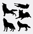 Wolf wild animal silhouette vector image vector image