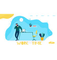 work time management landing page for company vector image vector image