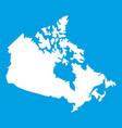 canada map icon white vector image