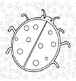 Cute ladybird coloring book page Outlined vector image