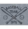 Grunge baseball design t-shirt Printing vector image