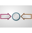 a circle arrows vector image vector image