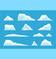 arctic iceberg north pole travelling ice rock vector image vector image