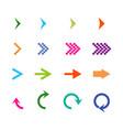 arrows isometric set icon arrows colorful arrow vector image vector image