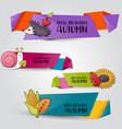 autumn season concept horizontal banner template vector image