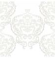 Baroque damask delicate ornament pattern vector image vector image