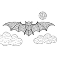 Bat coloring book for adults vector image vector image