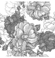 Beautiful Monochrome Seamless Rose Background vector image