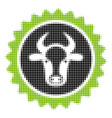 beef certificate seal halftone icon vector image