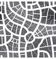 black and white map city seamless pattern vector image vector image