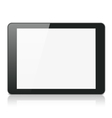 Black Tablet Computer or Reader vector image vector image