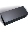 blank black box isolated on white background vector image