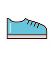 brightly shoe cartoon vector image