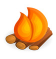burning bonfire icon cartoon style vector image