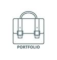 business caseportfolio line icon vector image vector image