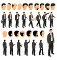 businessman character creation set vector image vector image