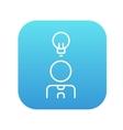 Businessman with idea line icon vector image