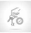 Buying home thin line icon vector image vector image