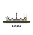 canada travel location vacation or trip and vector image vector image