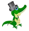 Cartoon of the crocodile in hat vector image vector image