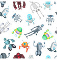 cartoon robots pattern or background vector image
