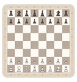 chess board with figures vector image vector image