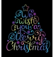 Christmas congratulation on black background vector image vector image