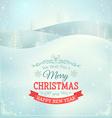 Christmas landscape background vector image