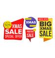 christmas sale banner set sale banner vector image vector image