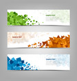 collection abstract banners with colorful design vector image vector image