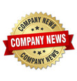 company news round isolated gold badge vector image vector image