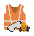 construction equipment and tools vector image vector image