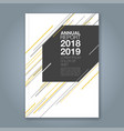 cover annual report 894 vector image vector image