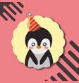 cute animal happy birthday vector image