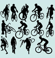 Cyclocross racing silhouettes vector | Price: 1 Credit (USD $1)