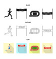 design of sport and winner icon collection vector image vector image