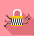 digital padlock icon flat style vector image vector image