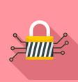 digital padlock icon flat style vector image