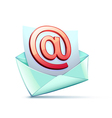 email symbol vector image vector image