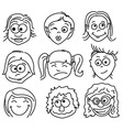 faces vector image vector image