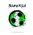 flag of nigeria as an abstract soccer ball vector image vector image