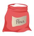 flour bag open sack with white baking powder vector image vector image