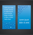 flyers with water drops vector image