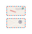 front and back view blank envelope mockup vector image vector image